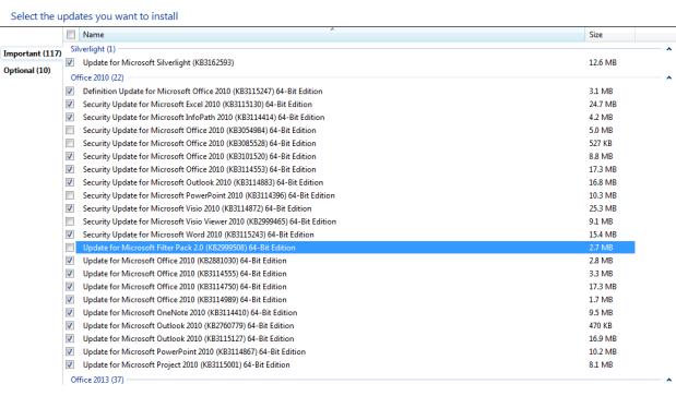 Microsoft Windows Updates 2
